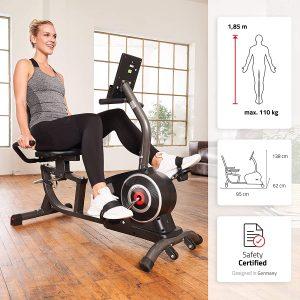 vélo d'appartement ergomètre couché SportPlus SP-RB-9500-iE